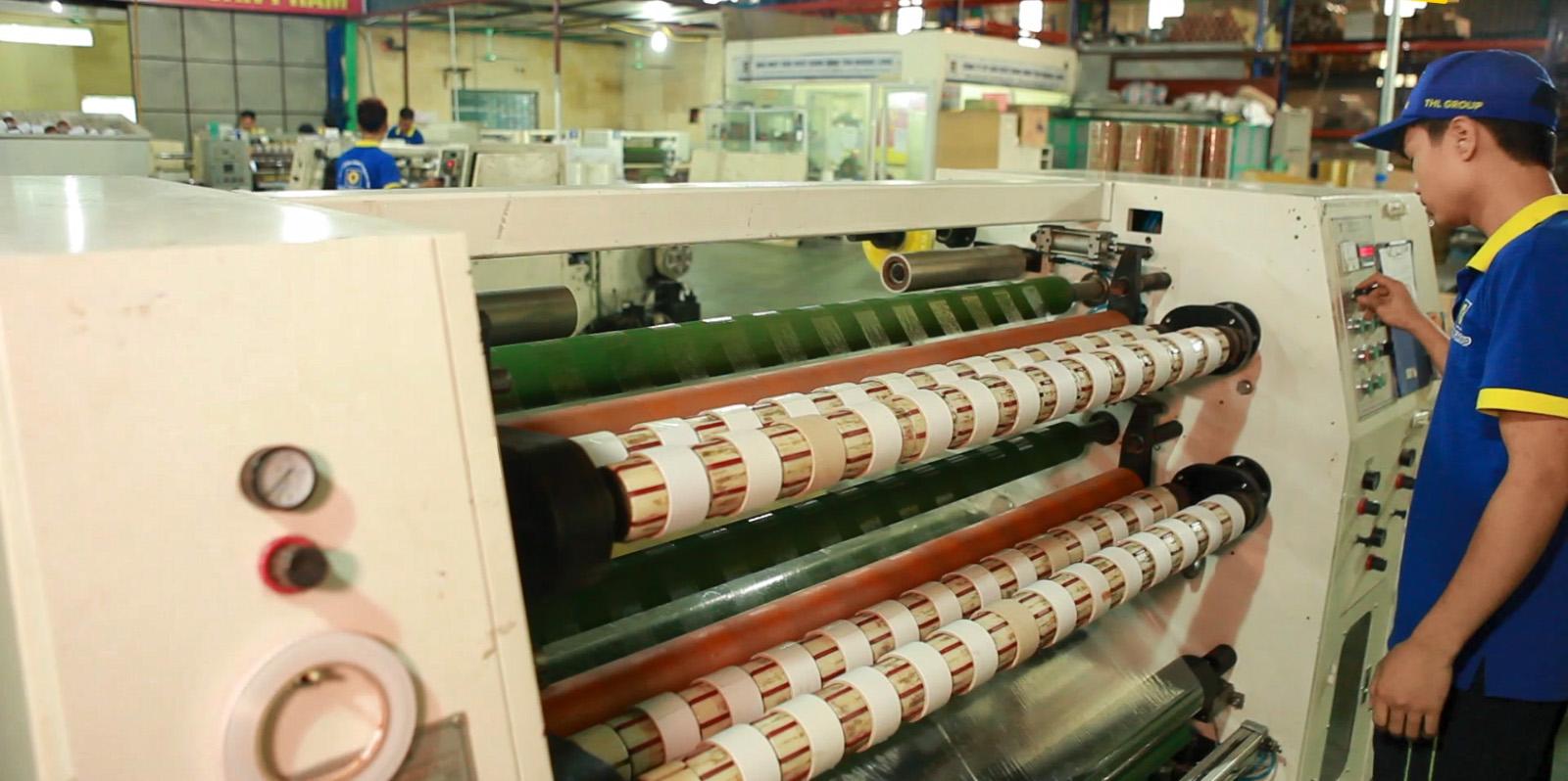 nhà máy sản xuất băng dính THL TAPE